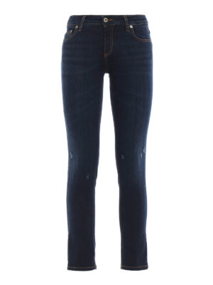 DONDUP: jeans skinny - Jeans slim Bakony a  lavaggio scuro
