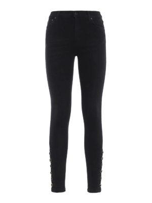 DONDUP: jeans skinny - Jeans neri Luriel super skinny