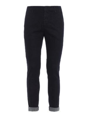 DONDUP: jeans skinny - Jeans dark wash modello chino Gaubert
