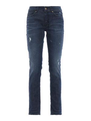 DONDUP: jeans skinny - Jeans skinny Gaynor a vita bassa