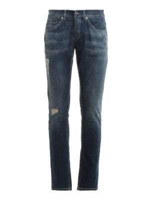 DONDUP: skinny jeans - George destroyed detailed jeans