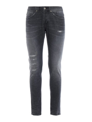 DONDUP: jeans skinny - Jeans grigi George con rotture