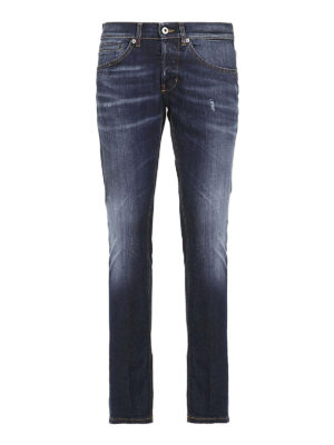 DONDUP: jeans skinny - Jeans George in denim slavato