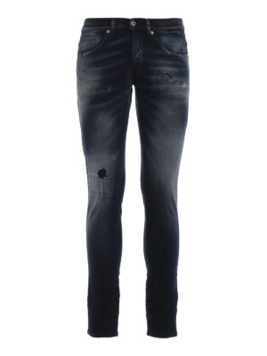 DONDUP: jeans skinny - Jeans George tinti con strappi