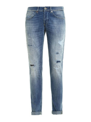 Dondup: skinny jeans - George jeans with patched rips