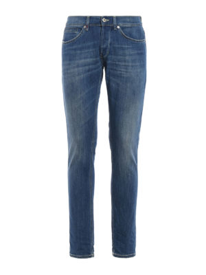 Dondup: skinny jeans - George jeans with yellow stitching