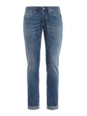 DONDUP: jeans skinny - Jeans George in denim chiaro
