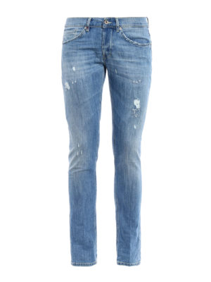 Dondup: skinny jeans - George ripped skinny jeans