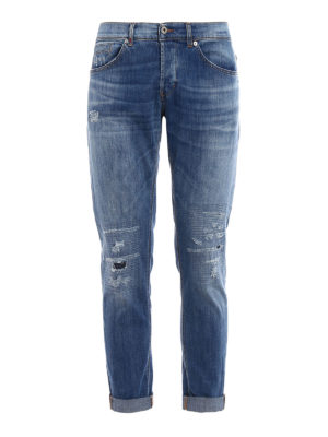 Dondup: skinny jeans - George skinny fit light wash jeans