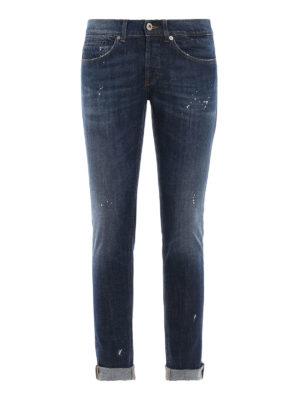 DONDUP: jeans skinny - Jeans skinny George in denim macchiato