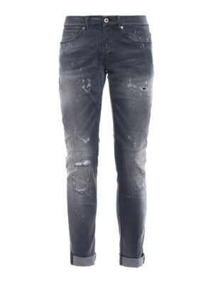 Dondup: skinny jeans - George skinny fit used jeans