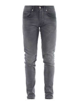 Dondup: skinny jeans - George stone wash grey jeans