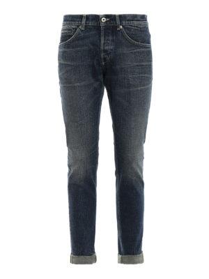 DONDUP: jeans skinny - Jeans George in denim fermo slavato