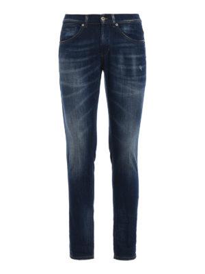 DONDUP: jeans skinny - Jeans skinny George in denim délavé