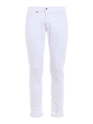 Dondup: skinny jeans - George white jeans