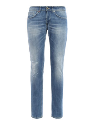Dondup: skinny jeans - George worn out stretch jeans
