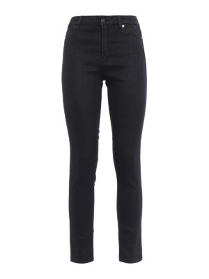 Dondup: skinny jeans - Iconic coated denim fabric jeans