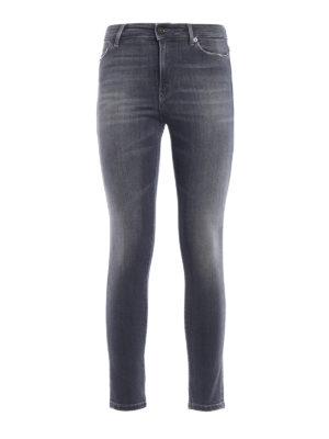 Dondup: skinny jeans - Iconic stretch skinny grey jeans