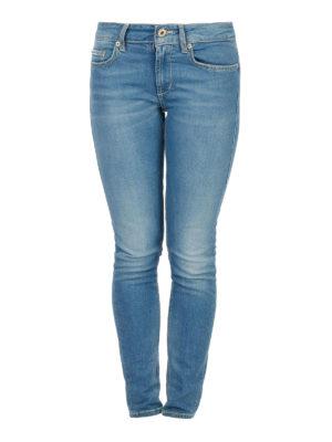 DONDUP: jeans skinny - Jeans skinny in denim chiaro