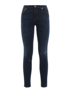 DONDUP: jeans skinny - Jeans Luriel vita alta super skinny