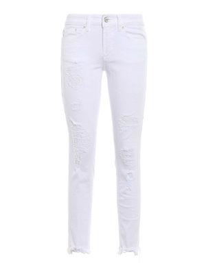 Dondup: skinny jeans - Monroe destroyed crop jeans