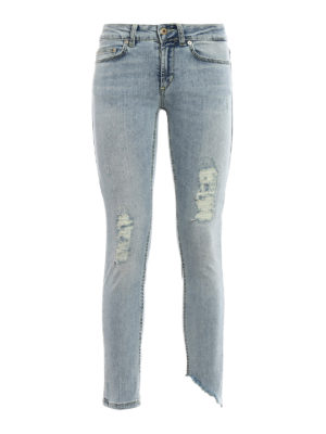 Dondup: skinny jeans - Monroe faded ripped jeans