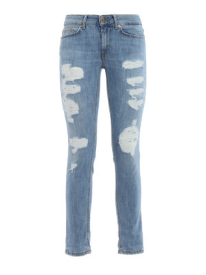 Dondup: skinny jeans - Monroe ripped skinny jeans