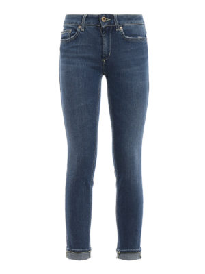 DONDUP: jeans skinny - Jeans skinny Monroe a vita bassa