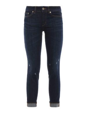 DONDUP: jeans skinny - Jeans skinny Monroe con piccoli strappi