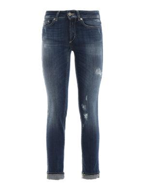 DONDUP: jeans skinny - Jeans Monroe skinny a vita bassa