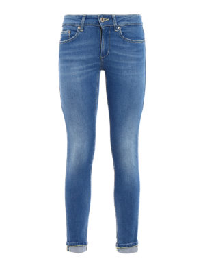 Dondup: skinny jeans - Monroe stone washed low rise jeans
