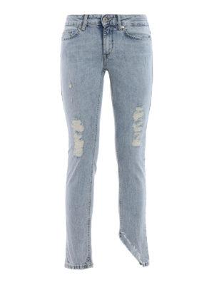 Dondup: skinny jeans - Monroe worn out denim jeans