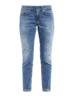 Dondup: skinny jeans - Monroe worn out jeans