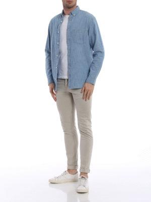 Dondup: skinny jeans online - George beige denim skinny jeans