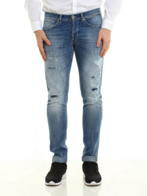 Dondup: skinny jeans online - George jeans with patched rips