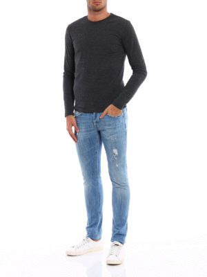 Dondup: skinny jeans online - George ripped skinny jeans