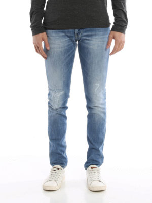 Dondup: skinny jeans online - George worn out stretch jeans