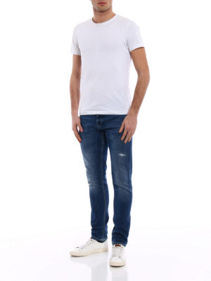 Dondup: skinny jeans online - George yellow stitchings jeans
