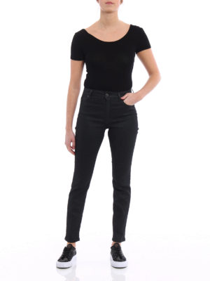 Dondup: skinny jeans online - Iconic coated denim fabric jeans