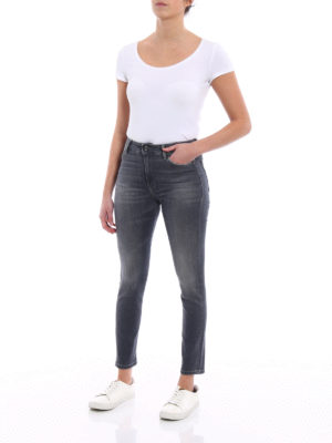 Dondup: skinny jeans online - Iconic stretch skinny grey jeans