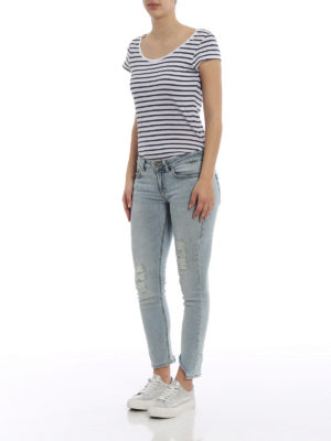 Dondup: skinny jeans online - Monroe faded ripped jeans