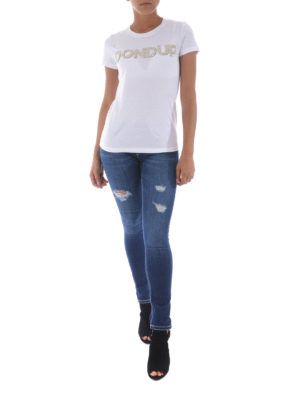 Dondup: skinny jeans online - Monroe fake scraping stretch jeans