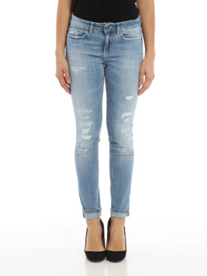 Dondup: skinny jeans online - Monroe ripped jeans