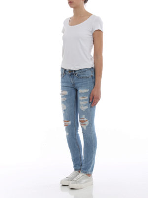 Dondup: skinny jeans online - Monroe ripped skinny jeans