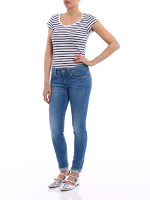 Dondup: skinny jeans online - Monroe stone washed low rise jeans