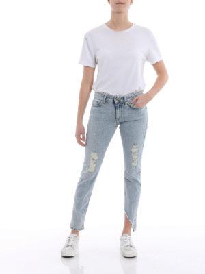 Dondup: skinny jeans online - Monroe worn out denim jeans