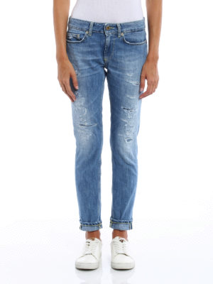 Dondup: skinny jeans online - Monroe worn out jeans