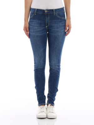 Dondup: skinny jeans online - Stretch cotton five pocket jeans