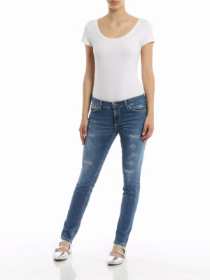 Dondup: skinny jeans online - Tara worn out jeans