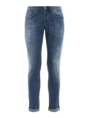 DONDUP: jeans skinny - Jeans skinny Ritchie in denim lavaggio chiaro
